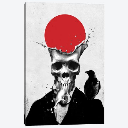 Splash Skull Canvas Print #AGC36} by Ali Gulec Canvas Print