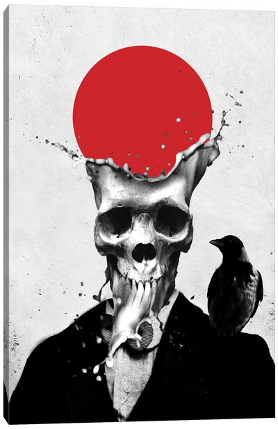 Splash Skull Canvas Art Print