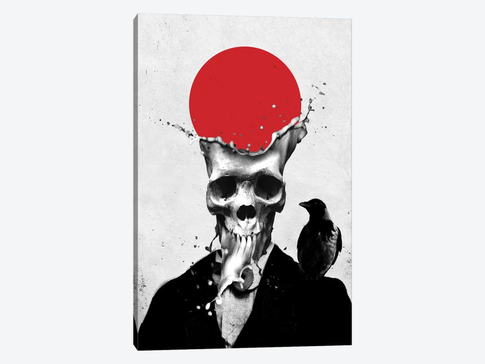 Splash Skull by Ali Gulec 1-piece Canvas Print