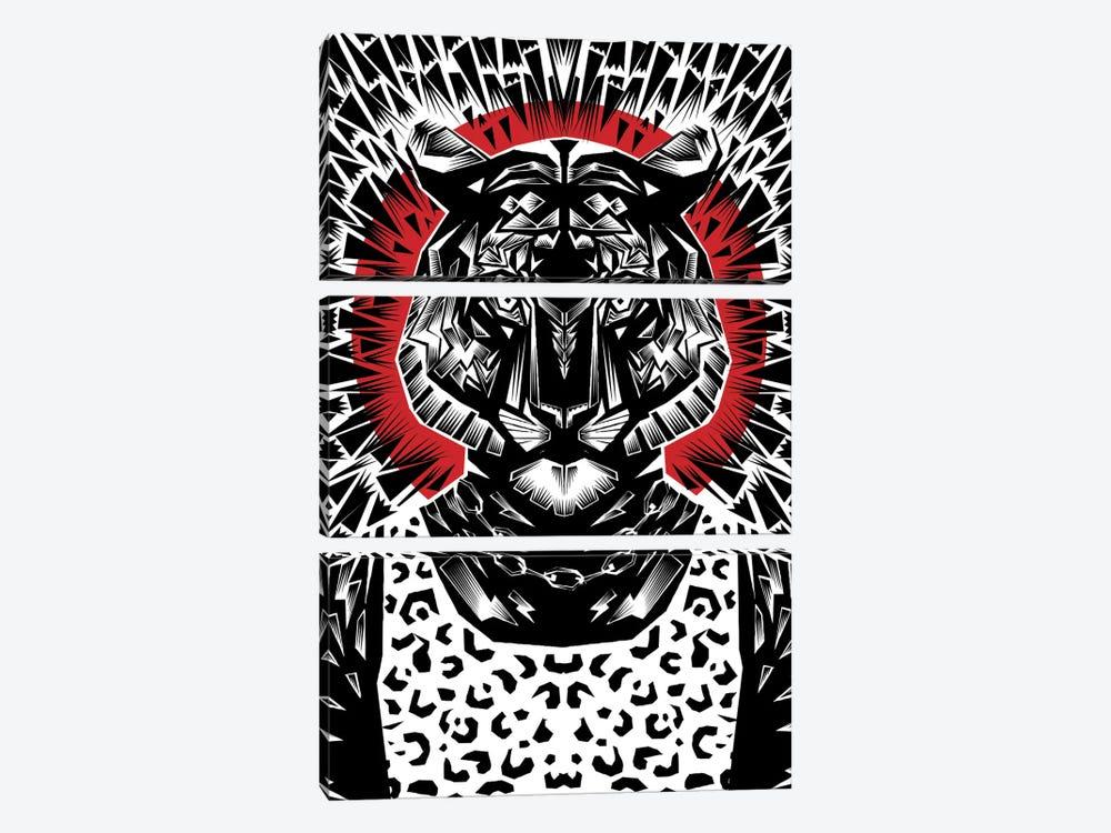 Tiger #2 by Ali Gulec 3-piece Canvas Artwork