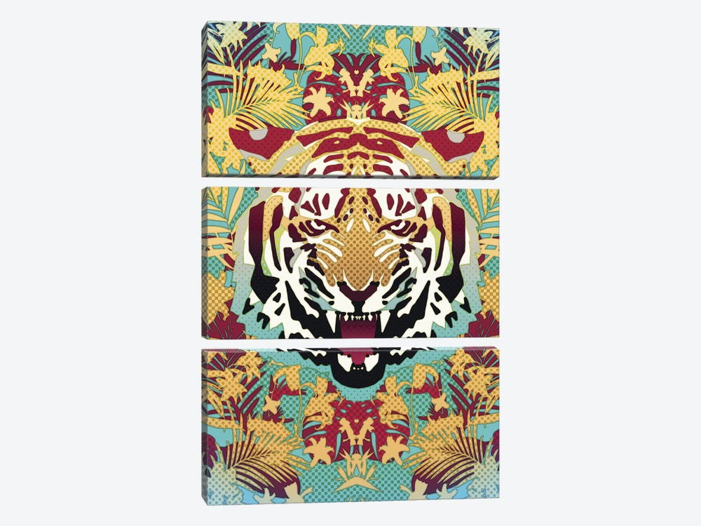 Tiger by Ali Gulec 3-piece Art Print