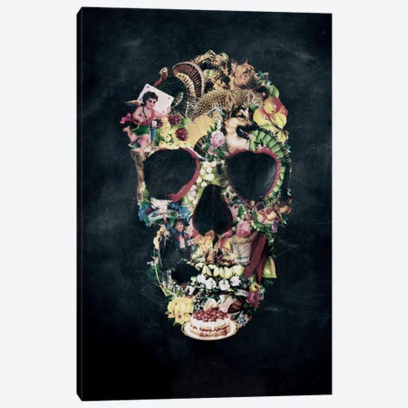 Vintage Skull Canvas Print #AGC40} by Ali Gulec Canvas Print