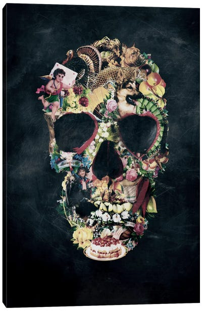 Vintage Skull Canvas Art Print