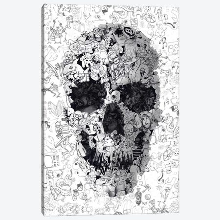 Doodle Skull Canvas Print #AGC49} by Ali Gulec Canvas Print
