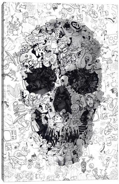 Doodle Skull Canvas Art Print