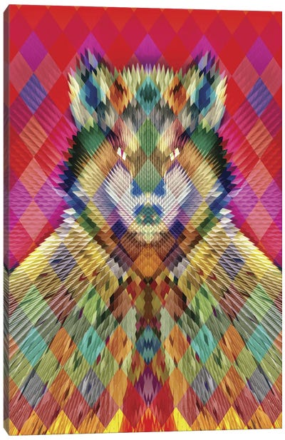 Corporate Wolf Canvas Art Print