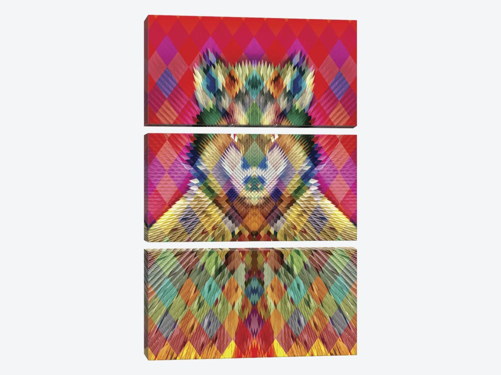 Corporate Wolf 3-piece Canvas Print