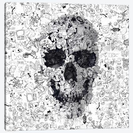 Doodle Skull, Square Canvas Print #AGC50} by Ali Gulec Canvas Art