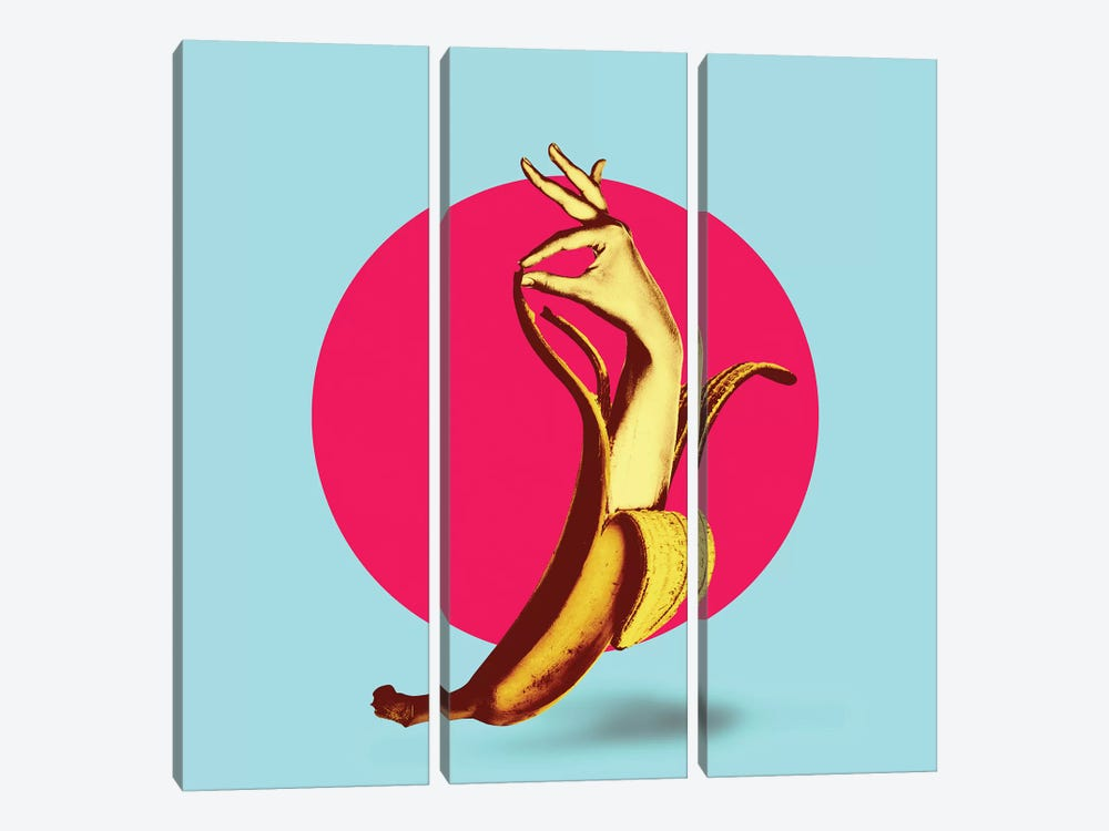 El Banana by Ali Gulec 3-piece Canvas Artwork