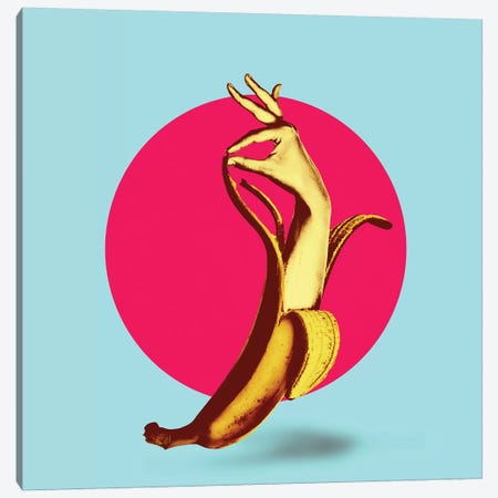 El Banana 3-Piece Canvas #AGC51} by Ali Gulec Canvas Artwork
