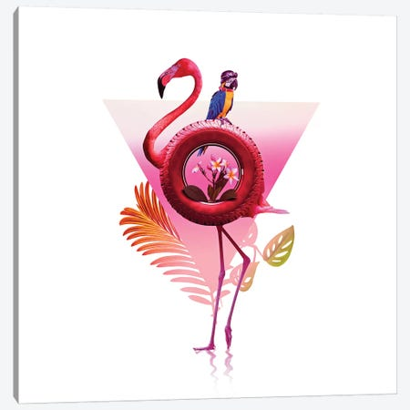 Flamingo Ride Canvas Print #AGC56} by Ali Gulec Canvas Print
