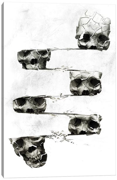 Distorted Skull Canvas Art Print