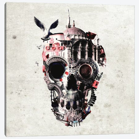 Istanbul Skull I, Square Canvas Print #AGC64} by Ali Gulec Canvas Wall Art
