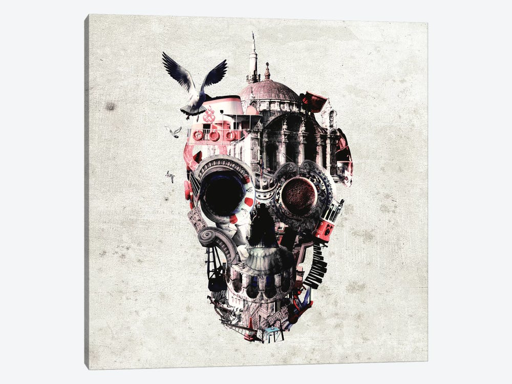 Istanbul Skull I, Square by Ali Gulec 1-piece Canvas Wall Art
