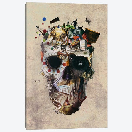 Istanbul Skull II Canvas Print #AGC65} by Ali Gulec Canvas Wall Art