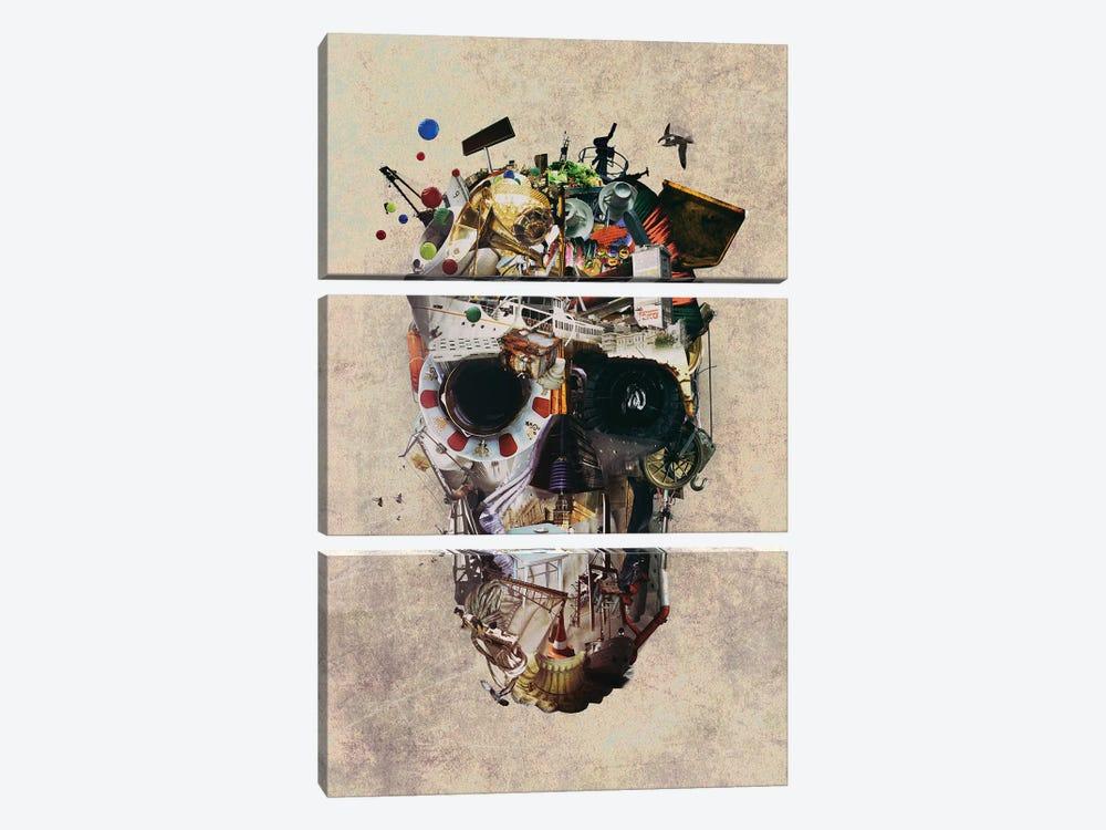 Istanbul Skull II by Ali Gulec 3-piece Canvas Print