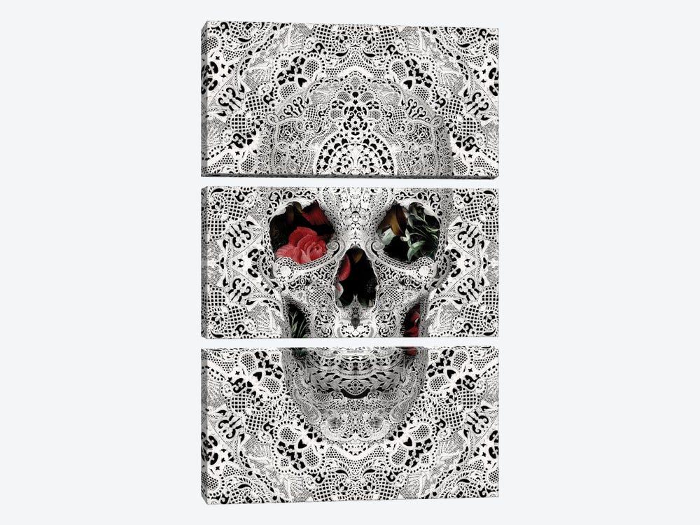 Lace Skull II by Ali Gulec 3-piece Canvas Wall Art
