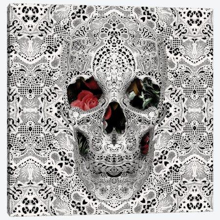 Lace Skull II, Square Canvas Print #AGC67} by Ali Gulec Canvas Artwork