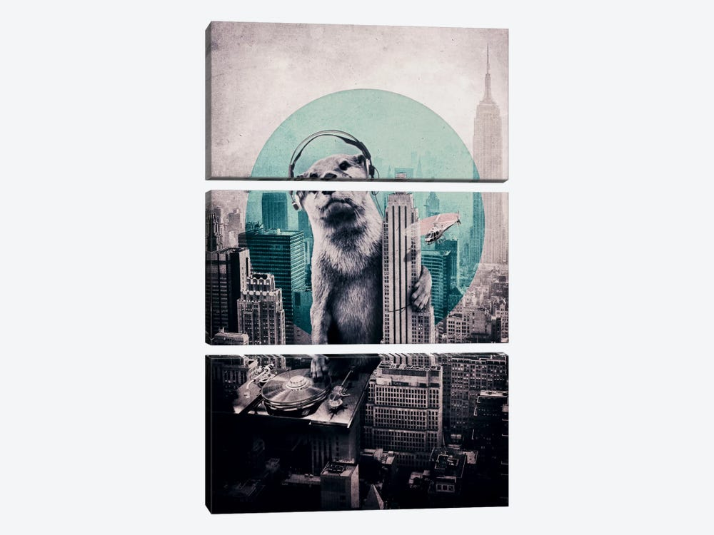 DJ by Ali Gulec 3-piece Art Print