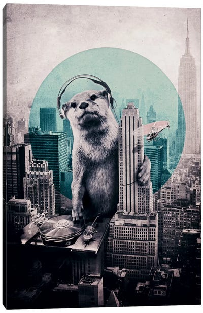 DJ Canvas Art Print
