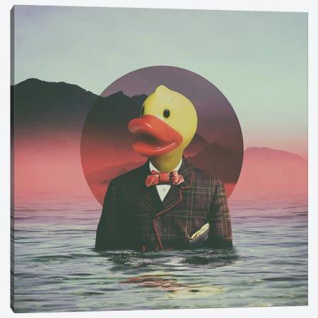 Rubber Ducky, Square Canvas Print #AGC84} by Ali Gulec Canvas Art