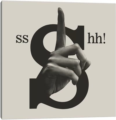 Shh Canvas Art Print