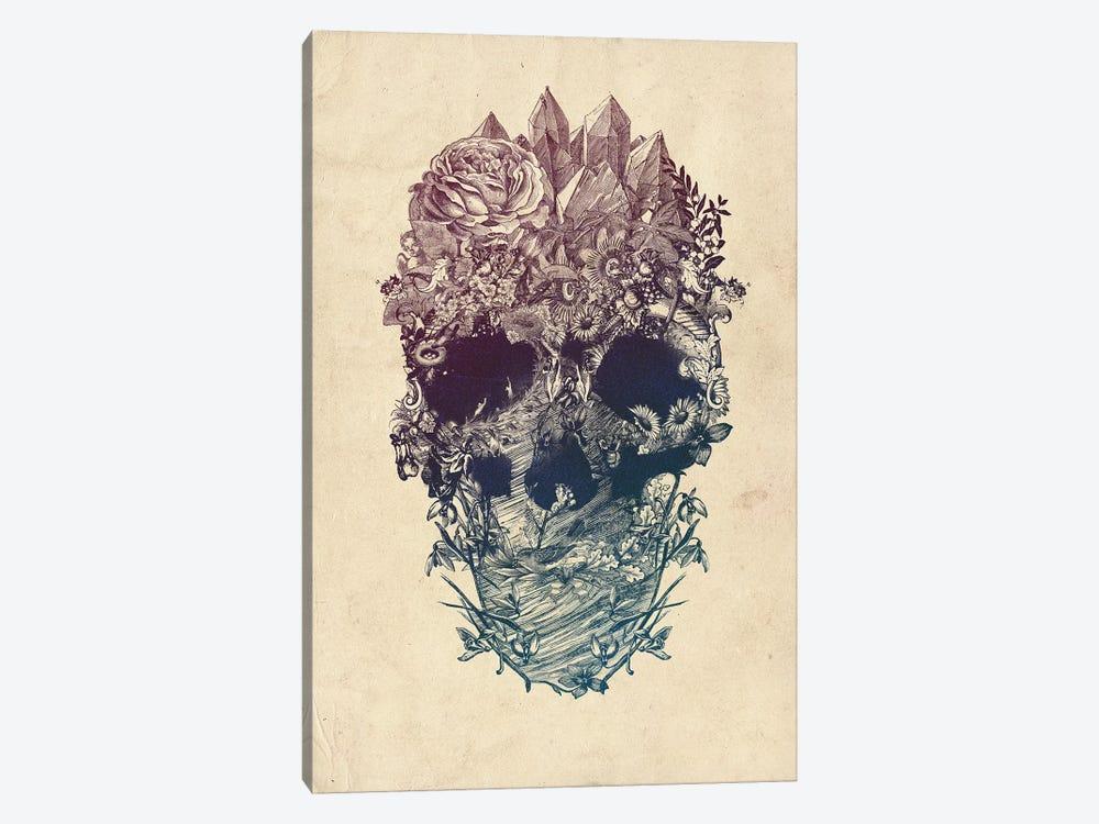 Skull Floral by Ali Gulec 1-piece Canvas Art