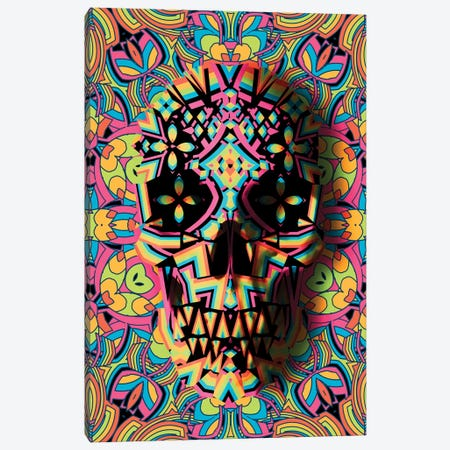 Skull Geo Canvas Print #AGC89} by Ali Gulec Canvas Art Print