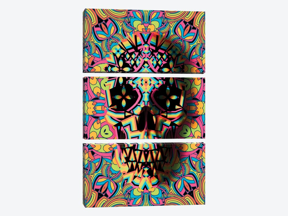 Skull Geo by Ali Gulec 3-piece Canvas Art Print