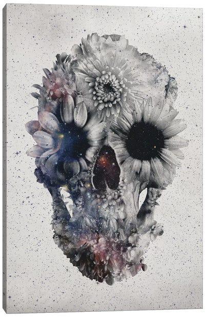 Floral Skull #2 Canvas Art Print