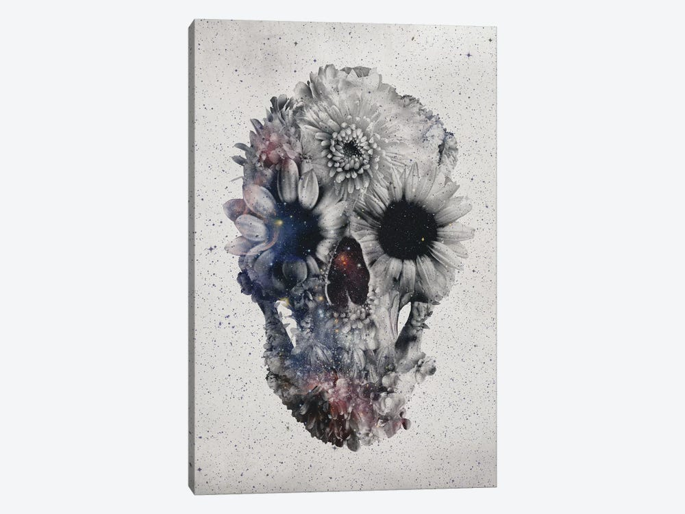 Floral Skull #2 by Ali Gulec 1-piece Canvas Art Print