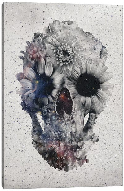 Floral Skull #2 Canvas Art Print