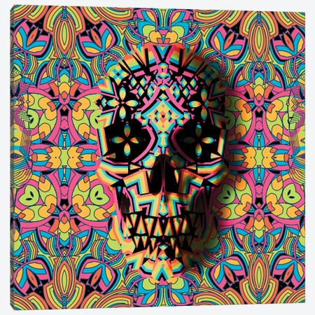Skull Geo, Square Canvas Print #AGC90} by Ali Gulec Canvas Artwork