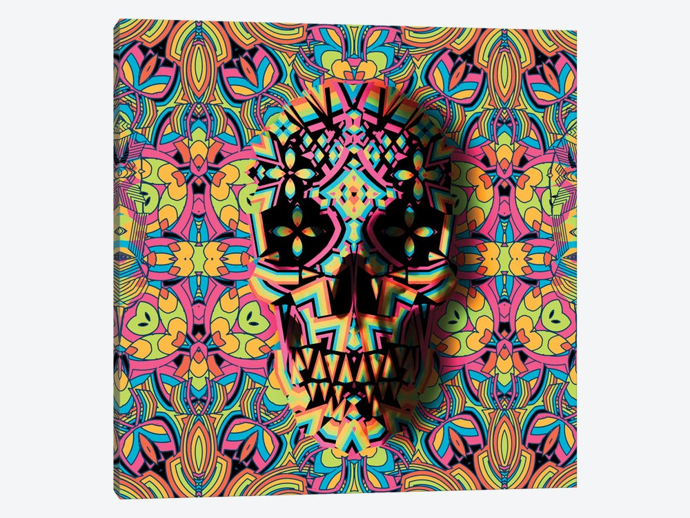 Skull Geo, Square by Ali Gulec 1-piece Art Print