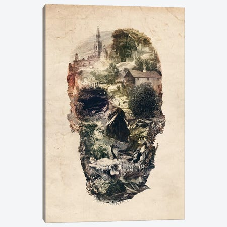 Skull Town Canvas Print #AGC91} by Ali Gulec Canvas Artwork