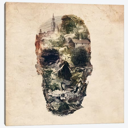 Skull Town Canvas Print #AGC92} by Ali Gulec Canvas Wall Art