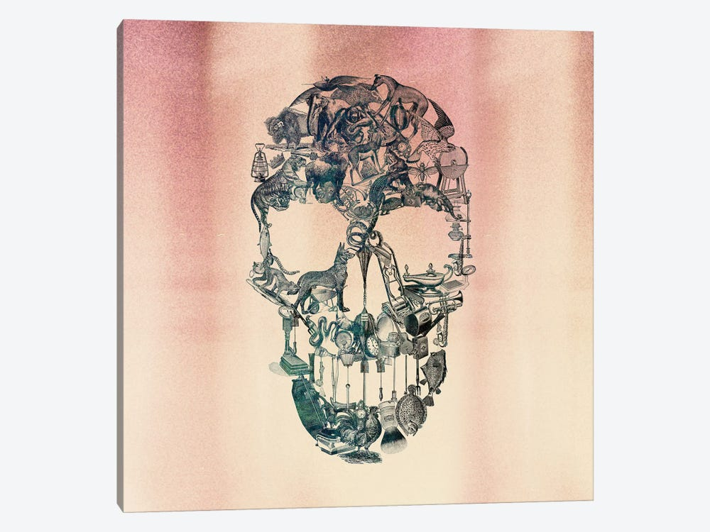 Skull Vintage, Square by Ali Gulec 1-piece Art Print