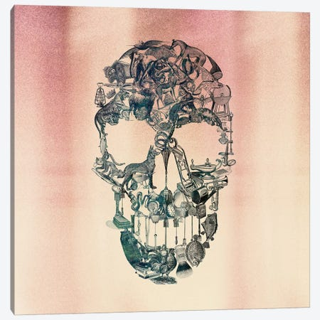 Skull Vintage, Square Canvas Print #AGC94} by Ali Gulec Canvas Art Print