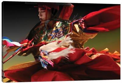 A Pow Wow Dance Canvas Art Print