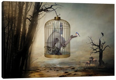 Caged By Your Own Convictions Canvas Art Print