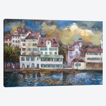 Zurich Canvas Print #AGG101} by Anastasiia Grygorieva Canvas Artwork