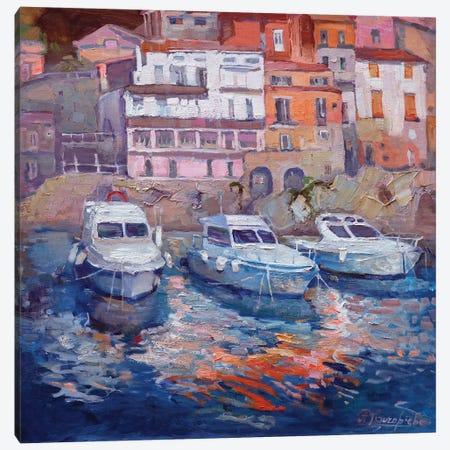 Port In Italy Canvas Print #AGG111} by Anastasiia Grygorieva Canvas Art Print