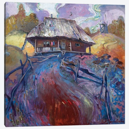 Hut Canvas Print #AGG113} by Anastasiia Grygorieva Art Print