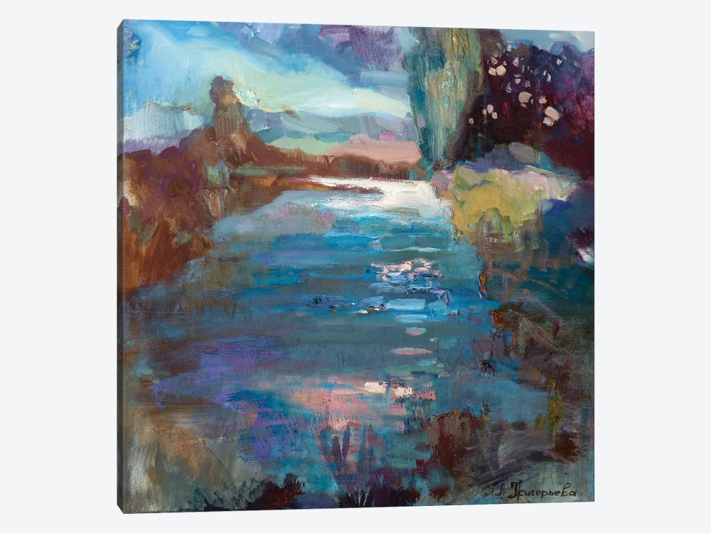 Pond In Latvia by Anastasiia Grygorieva 1-piece Art Print