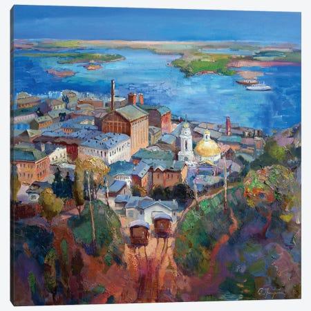 Retro Funicular Canvas Print #AGG131} by Anastasiia Grygorieva Canvas Art Print