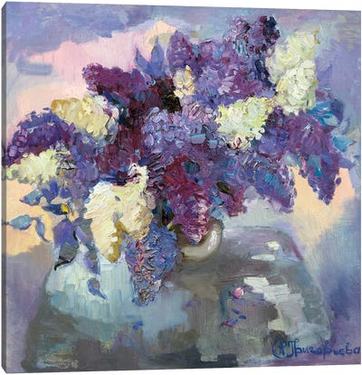 Lilac In Vase Canvas Art Print