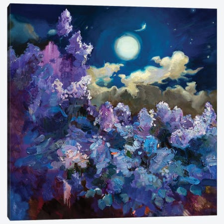 FullMoon Lilac Canvas Print #AGG136} by Anastasiia Grygorieva Canvas Artwork