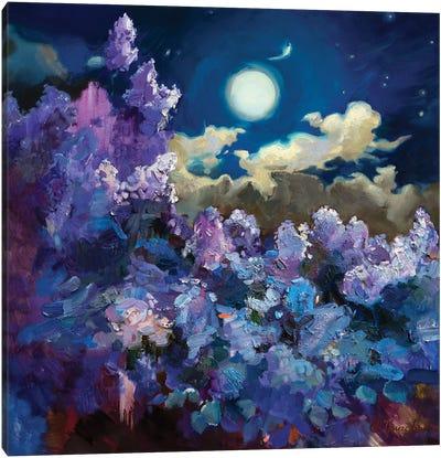 FullMoon Lilac Canvas Art Print