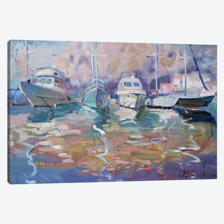 Boats Canvas Print #AGG139} by Anastasiia Grygorieva Art Print