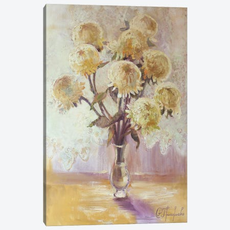 9 Chrysanthemums Canvas Print #AGG16} by Anastasiia Grygorieva Canvas Print
